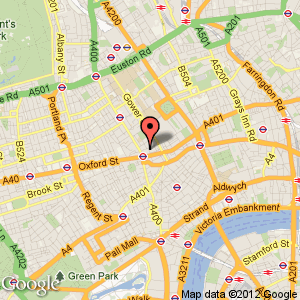 Bloomsbury Hotel Map